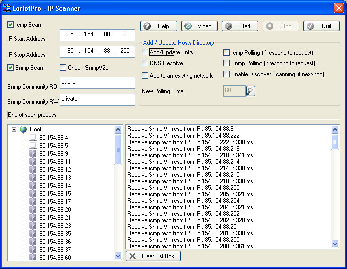 ip scanner and snmp scanner tool